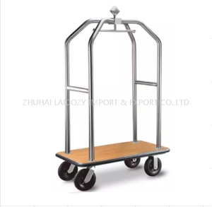 Hotel deluxe foldable Vinyl Deck Base Luggage Trolley