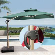 New Style Square Umbrella with Marble Base for Swimming Pool