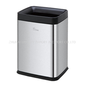 Stainless steel guestroom indoor dustbins 8L trash can
