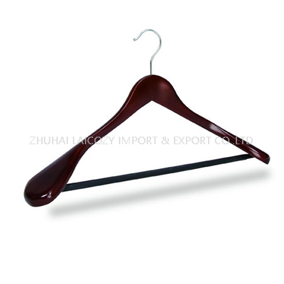 Deluxe Wooden Suit Coat Hangers with Bar