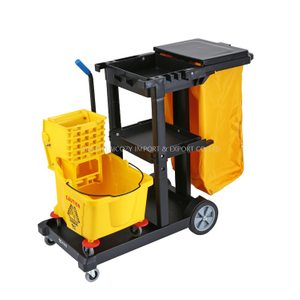 Plastic Multipurpose Cleaning Cart with Mop Wringer Trolley