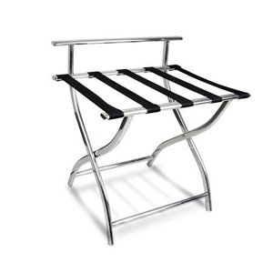 Foldable stainless steel luxury hotel room luggage rack
