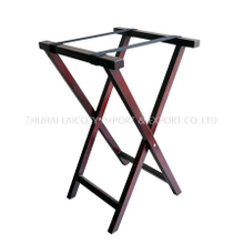 Folding Restaurant food service tray stand