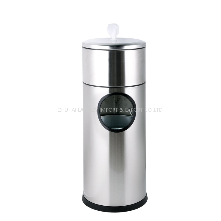 Floor Standing Stainless Gym Wet Wipe Dispenser Stand