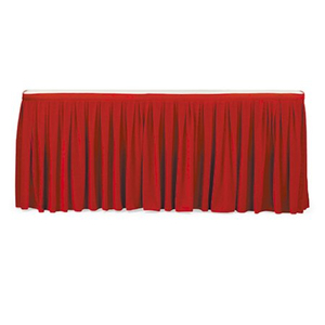Hotel banquet table skirting with good quality and wedding table cloth