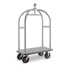 Special birdcage design movable hotel used bellman Cart