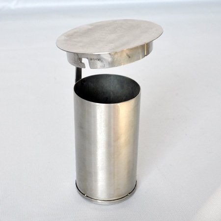 Hotel brushed 304 stainless steel floor ashtray