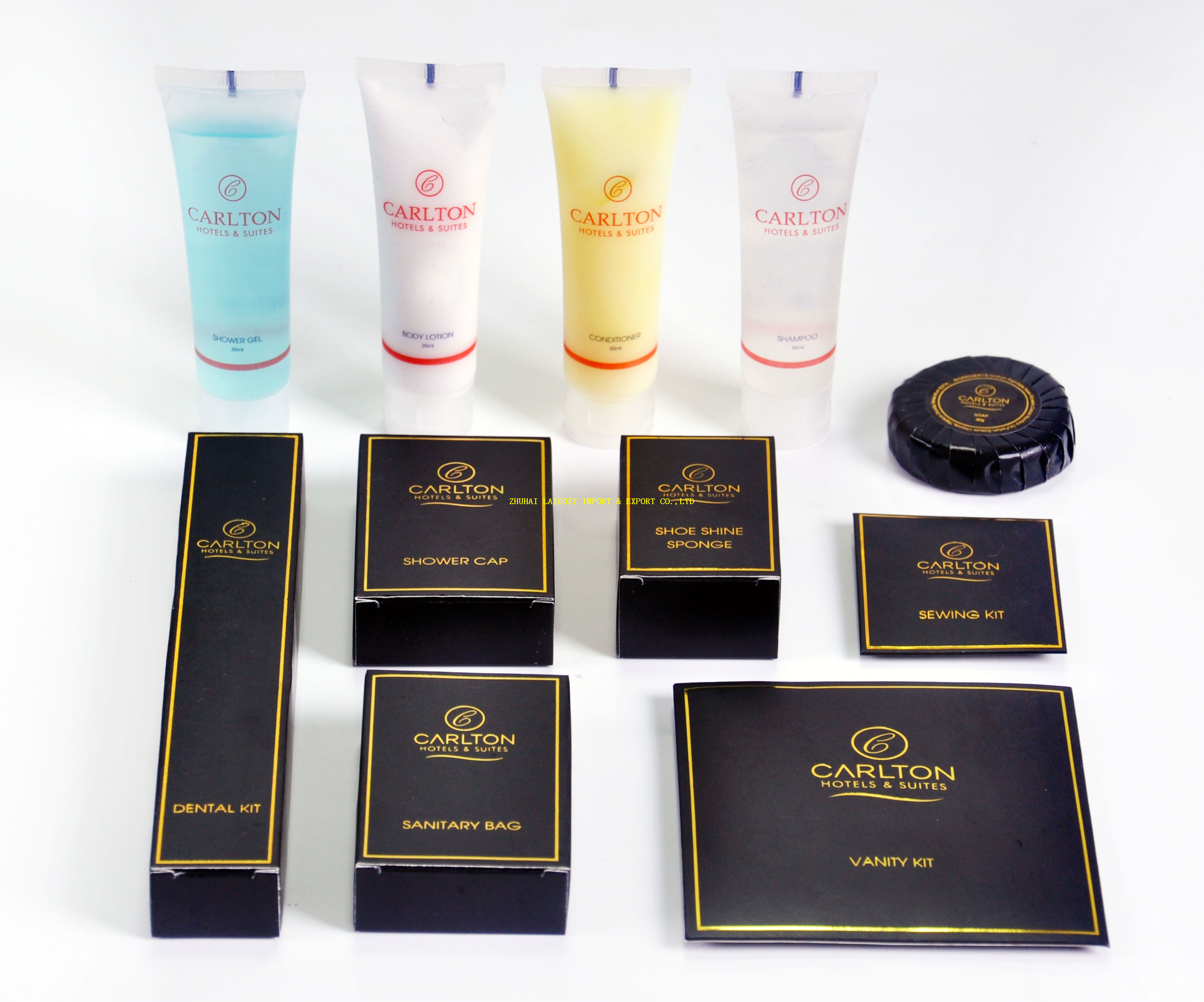 Luxury calton hotel bathroom amenities set