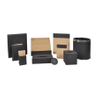 Customized Logo Hotel Guest Room PU Leather Desk Accessories