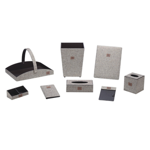 Star Hotel Amenities Supplies Desktop Leather Accessories Set