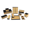 Westin wooden MDF star hotel desktop leather set